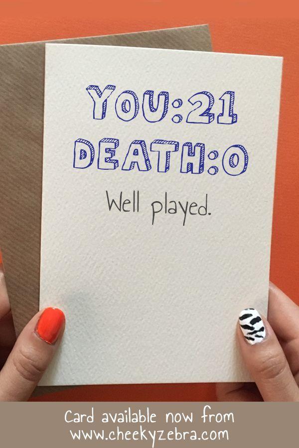 Death 21 Birthday Cards For Friends 21st Birthday Cards 18th Birthday Cards