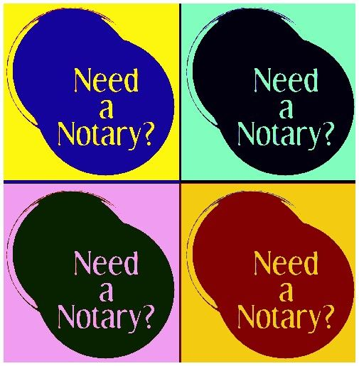 Need a free Notary? Your local bank or credit union will provide free Notary public services to thier members! Also, check with you local church and post office.