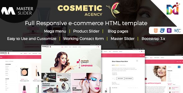 Build your next online #Cosmetic website with this all-in-one #webdesign Template for you, demo http://bit.ly/2sDFp8s #ThursdayThoughts #OnlineMakeup #BestMakeup #WebsiteDesign #WebDevelopment #Makeuplover‬ #Makeupforever ‪#MakeItHappen‬ #eCommerceStore #eCommerce