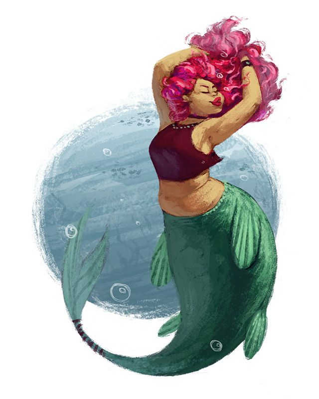 Plus Size Art Spotlight: Mermaids and Fairies with BlakeInobi http://thecurvyfashionista.com/2016/09/plus-size-art-mermaids-fairies-blake-inobi/