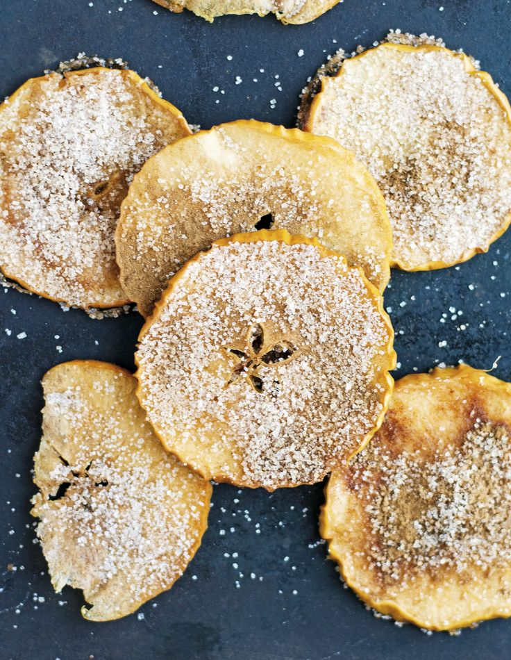 Baked Cinnamon Sugar Apple Chips but I'm going to eliminate the sugar.