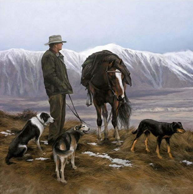 Taking a Breather by Julie Greig - canvas and paper art-prints available from imagevault.co.nz