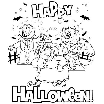 word halloween coloring pages - photo#18