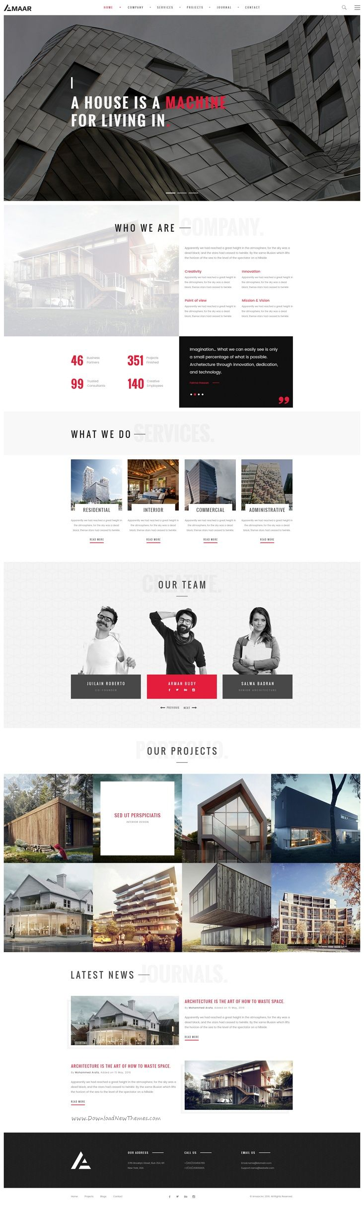 Amaar is a creative #PSD template for #Architecture, #Interior Design, Creative Design, Portfolio & Construction Business website download now➩ https://themeforest.net/item/amaar-creative-architecture-interior-psd-template/18711828?ref=Datasata