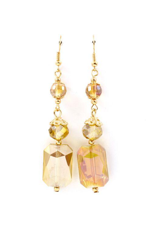 Vitrail Kira Earrings in Champagne - very versatile