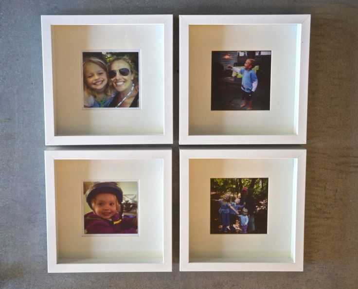 Instagram Wall with Ikea RIBBA Frames