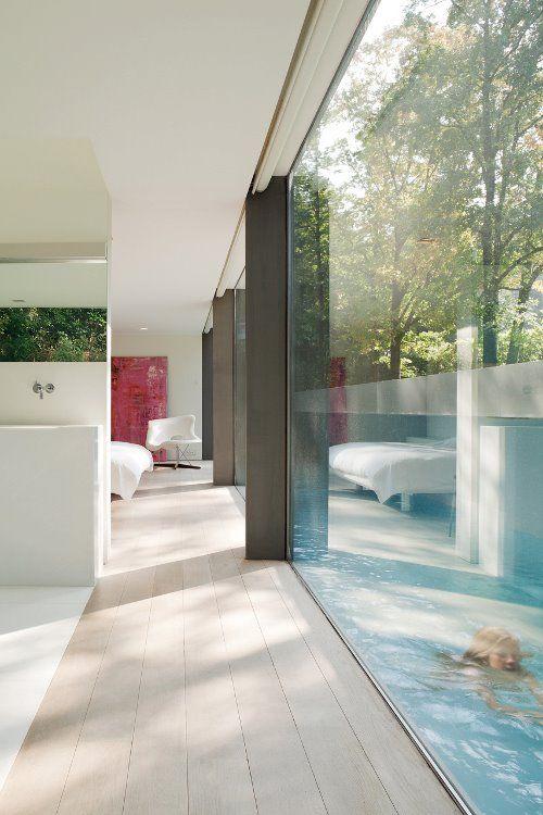 Villa met verdiept zwembad in Brugge