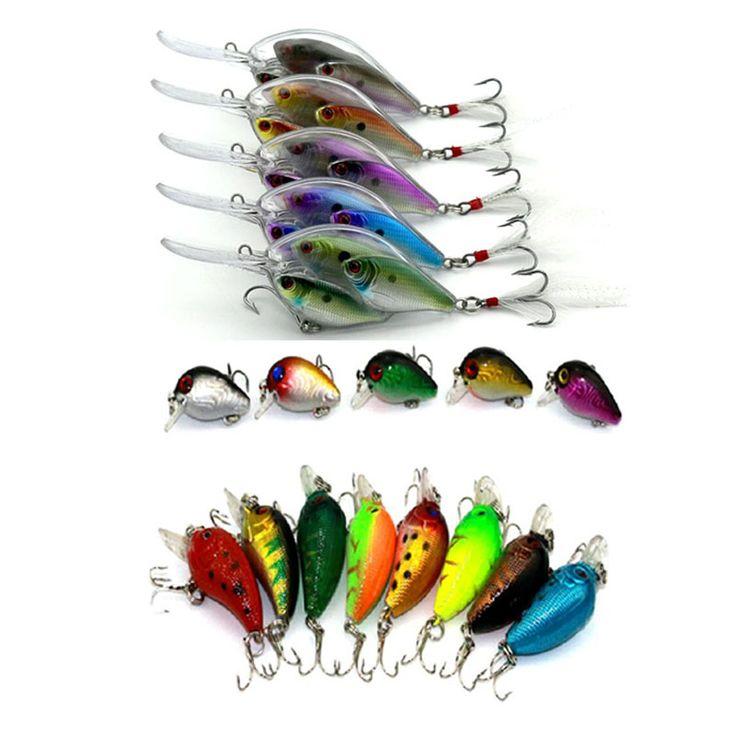 18pcs mixed hard plastic  minnow crankbaits wobbler pike carp trout perch catfish fishing baits isca de pesca fishing tackles