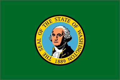 """Washington's State  (Entered the Union: November 11, 1889, 42nd state) ~ Origin of Name: In honor of President George Washington ~ State Motto: Al-Ki, Indian word meaning """"by and by"""" ~ State Song: """"Washington, My Home"""" ~ National Forests:6; State Parks: 215 ~ Famous for: Mt. Ranier, Mt. St. Helens, the Space Needle, National Parks, apples"""