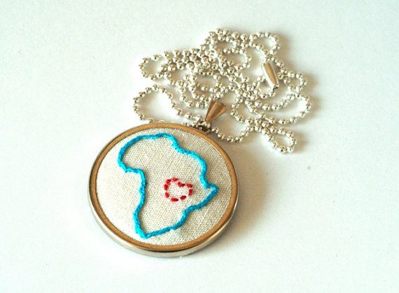 Hand embroidered Africa <3
