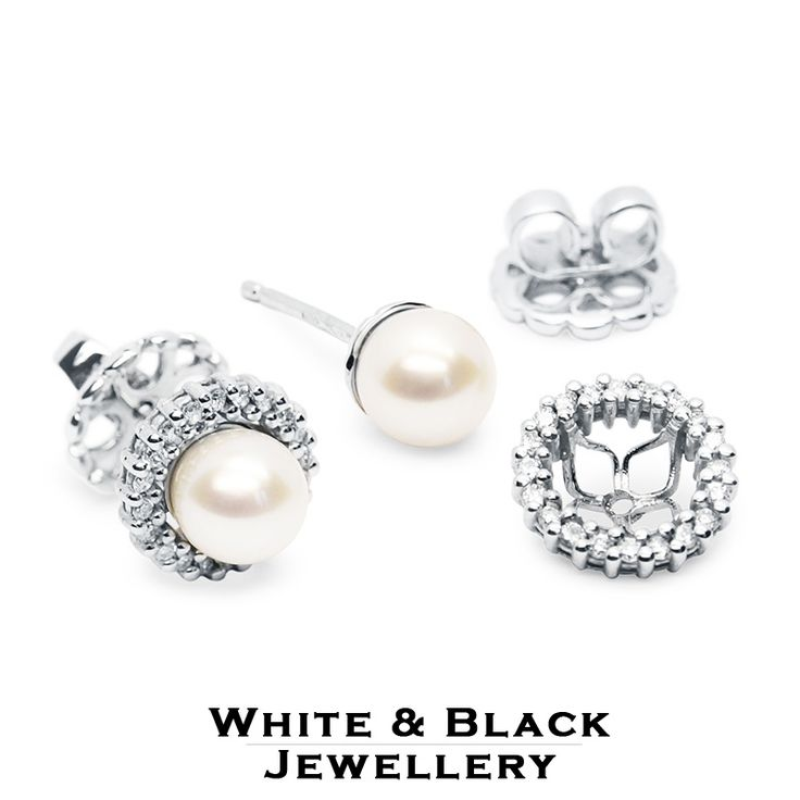 Cserélhető gyöngy fülbevaló: Hordjad gyémántokkal vagy anélkül! - Interchangeable pearl earring: You can wear it whit or without diamonds!