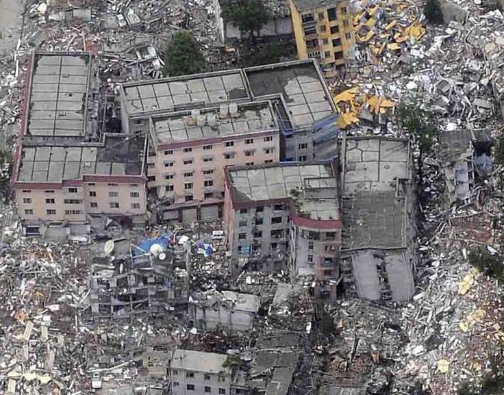 Photos of Damage in the Highest Earthquake Intensity Area (photo - China Earthquake Administration) 2008