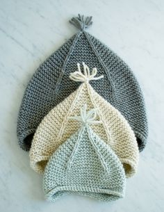 Free easy earflap hat knitting pattern. Kid knits: Free knitting patterns for babies - Pixie hats