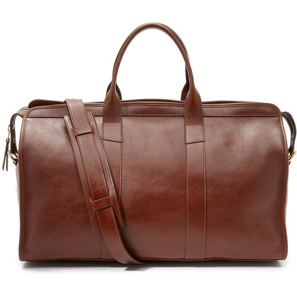 Lotuff Leather Duffel Travel Bag with Pocket (64.875 RUB) ❤ liked on Polyvore featuring men's fashion, men's bags, chestnut, men's duffel bags, mens leather bag, mens leather duffel bag and mens leather duffle bag