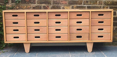 Vintage Old School Esavian Chest Of Drawers Sideboard Cabinet James Leonard ESA