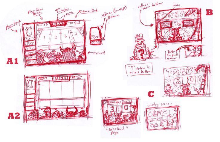 Future God Games: Touchstone ipad UI sketches