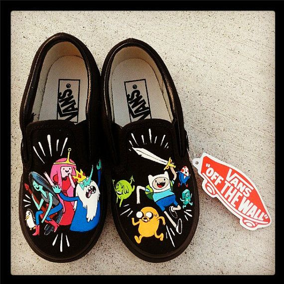 0c2537f522 WOMENS ADVENTURE TIME Shoes Finn and Jake by eastbaycalifornia ...