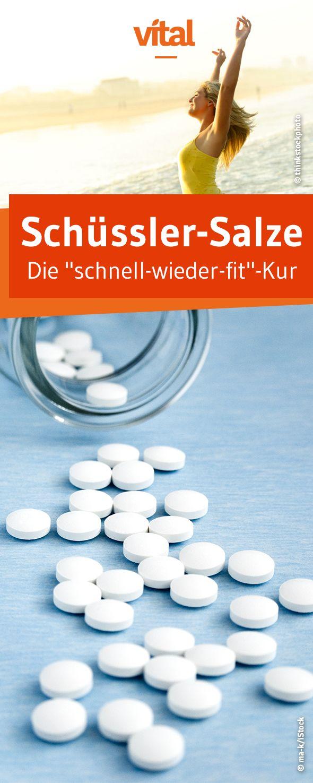 Quickly fit again with Schüssler salts