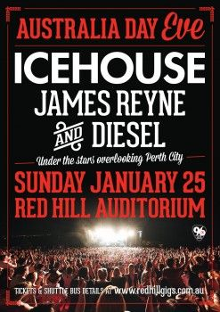 Win some tickets to see Icehouse, James Reyne and Diesel.