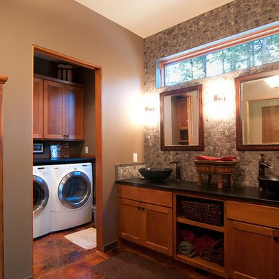 Bathroom/Laundry Combo . . . w/ a pass-through for clean clothes to the closet?
