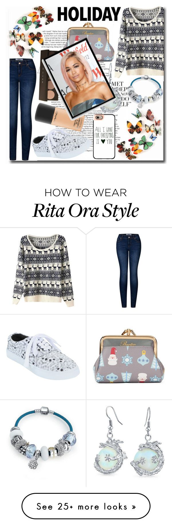 """""""Casual Christmas"""" by emmy-124fashions on Polyvore featuring 2LUV, Buxton, Casetify, Bling Jewelry, MAC Cosmetics, Bomedo and Christmas"""