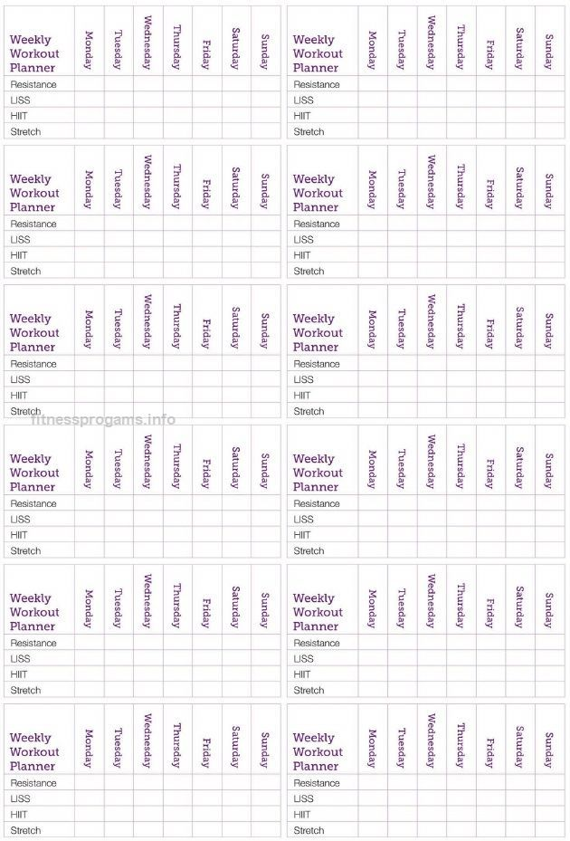 Weekly Workout Planner Kayla Itsines Weekly Workout Planner Kayla Itsines .. www…