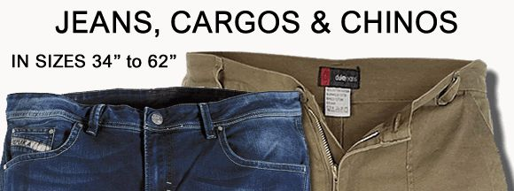 """Big and Tall Jeans- Large size mens jeans to 70"""" -Big and Tall Menswear,Large mens clothes, Big mens clothes, clothing for big men>."""