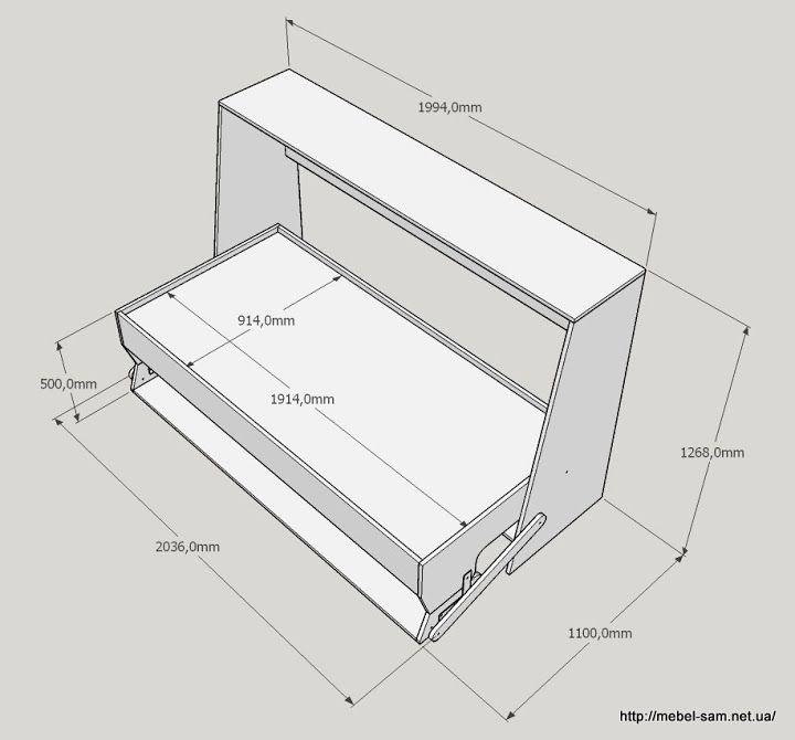 Трансформер кровать-стол своими руками.