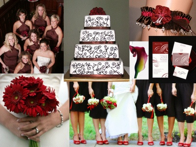 Chocolate And Deep Red Wedding