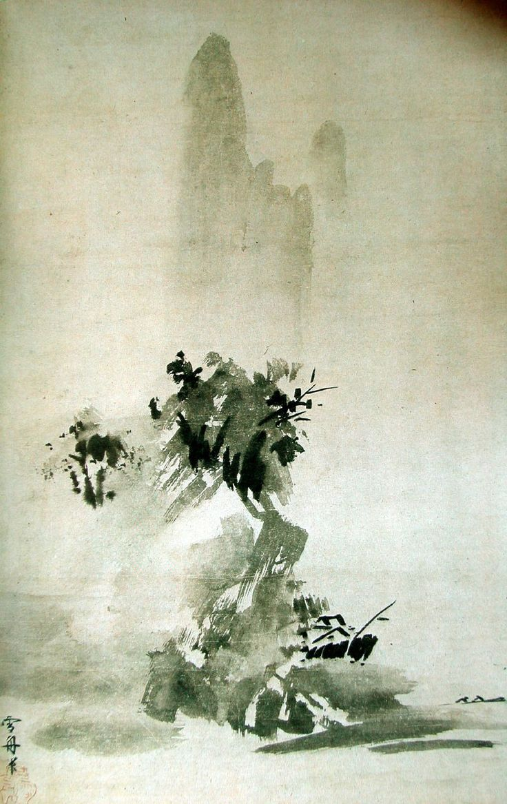 Sesshu, ink on paper. 15th century Japan