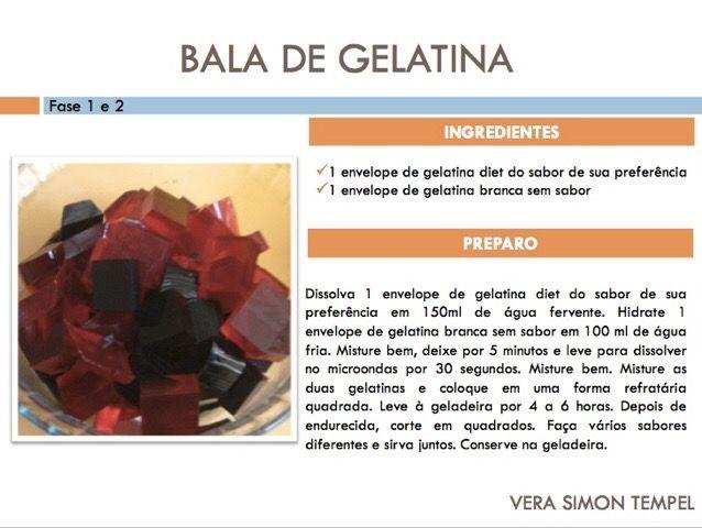 Bala de Gelatina todas as fases