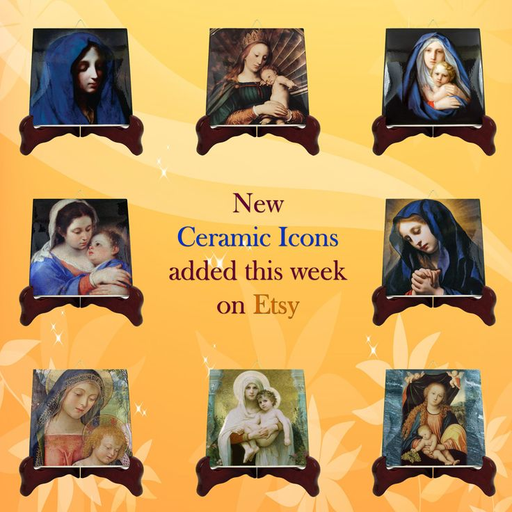 A lot of new ceramic icons dedicated to the Blessed Virgin Mary were added this week to my Etsy Store. A very nice and affordable gift for you, your home and your catholic friends. 100% handmade in Italy by @terrytiles2014  https://www.etsy.com/shop/TerryTiles2014