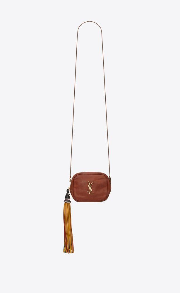 287473e9fb SAINT LAURENT Mini bags Camera Woman BLOGGER bag in cognac leather ...