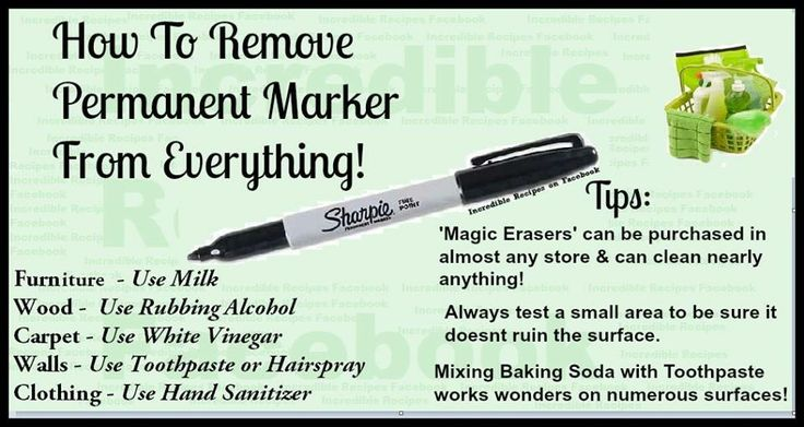 how to clean permanent sharpie
