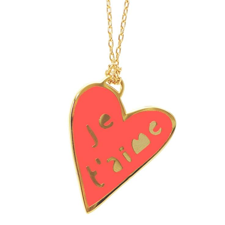Fab.com | Je TAime Heart Necklace