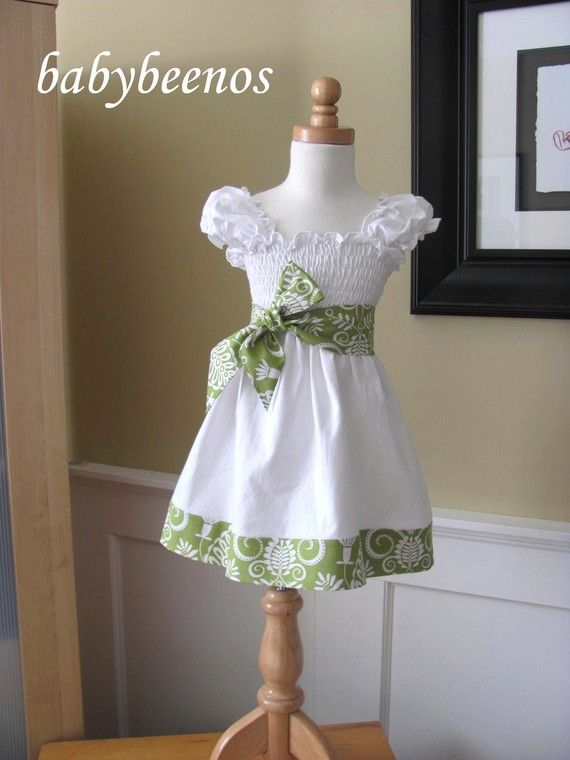 Shirred Cotton Jersey Dress with Sash--yeah,this is for a kid, but I think an adult could pull it off