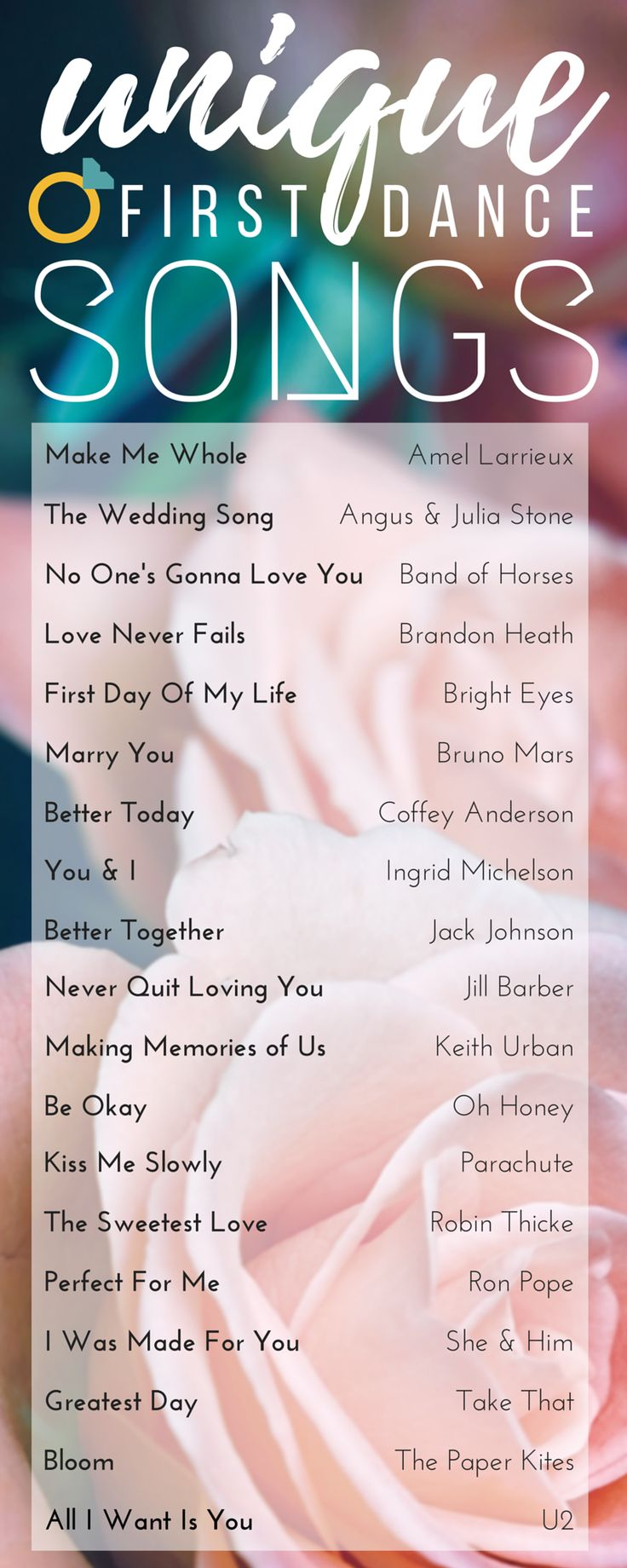 Our favorite unique songs that are perfect for the first dance!