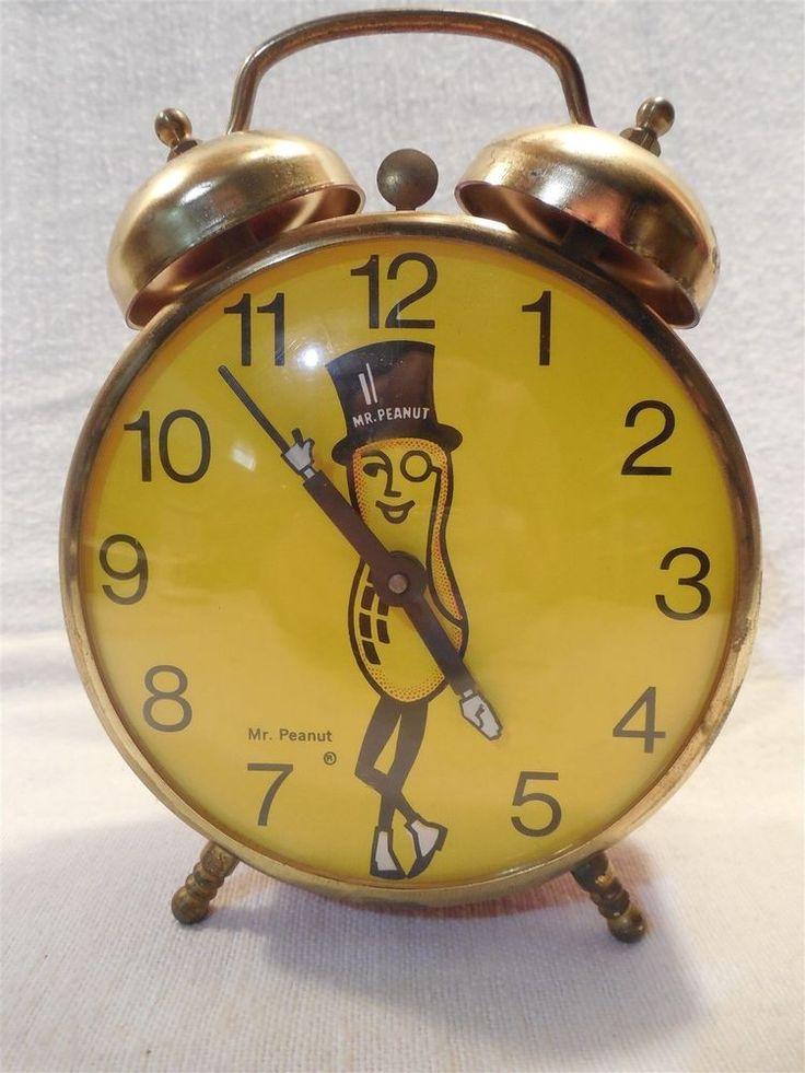 VINTAGE Planters Peanut Mr. Peanut 1960's/70's Lux Alarm Clock