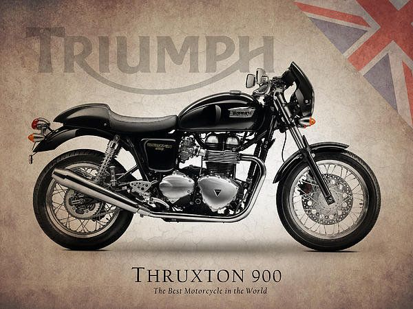 Triumph Thruxton 900 Print By Mark Rogan