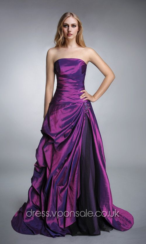 Strapless Ruched Ball Gown Prom Dress VPW1002 [VPW1002]