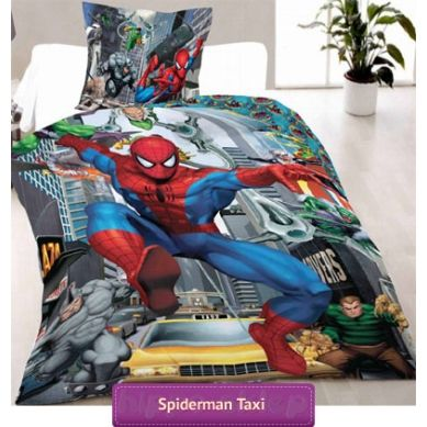 Spider-man bedding set with marvel comics superhero | Pościel Spiderman Taxi #spider_man_bedding #spiderman_bedding #kids_bedding