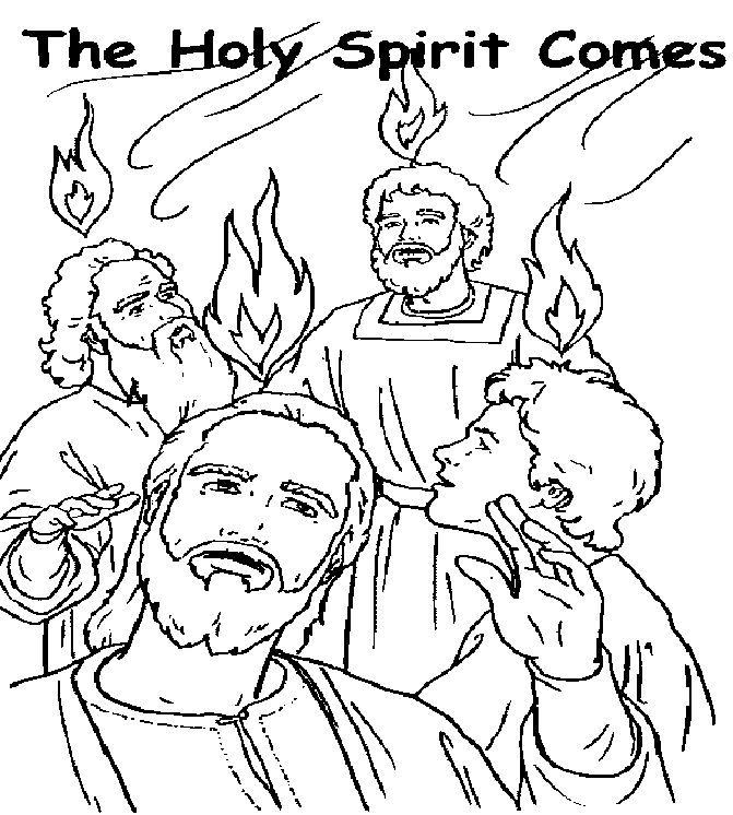free coloring pages about pentecost - photo#25