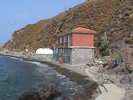 Hot baths at Eftalou, Lesvos, Greece