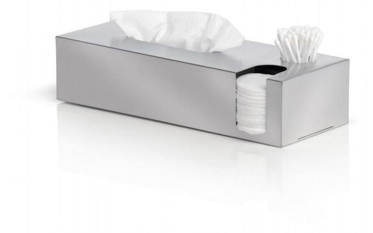 Pojemnik na chusteczki, płatki, patyczki NEXIO, matowy - Blomus - DECO Salon #container #bathroom #bathroomaccessories