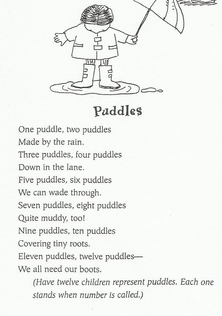 125 best images about poems for kindergarteners on Pinterest ...