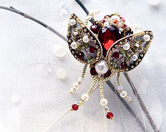 Rhinestone brooch Insect brooch Beetle от PurePearlBoutique
