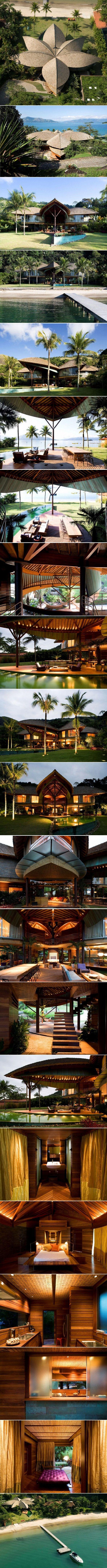 Leaf House by Mareines + Patalano Arquitetura. Brazil