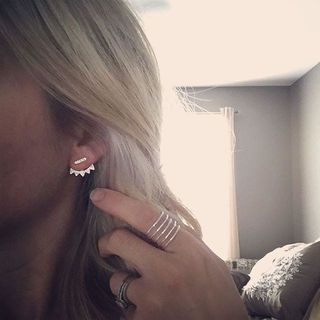 Loving my new Triangle Pave Ear Jacket. Love that these can be worn six, yes six ways! Ladies treat yo'self!