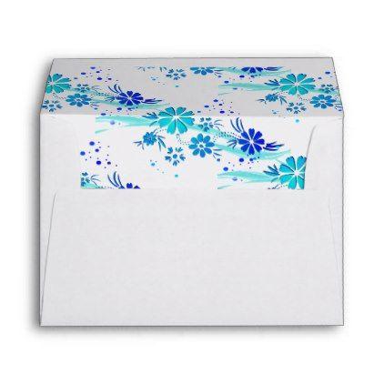 #Card Envelope-Flowers Envelope - #Wedding #Printed & #Mailing #Envelopes #weddinginvitations #wedding #invitations #party #card #cards #invitation