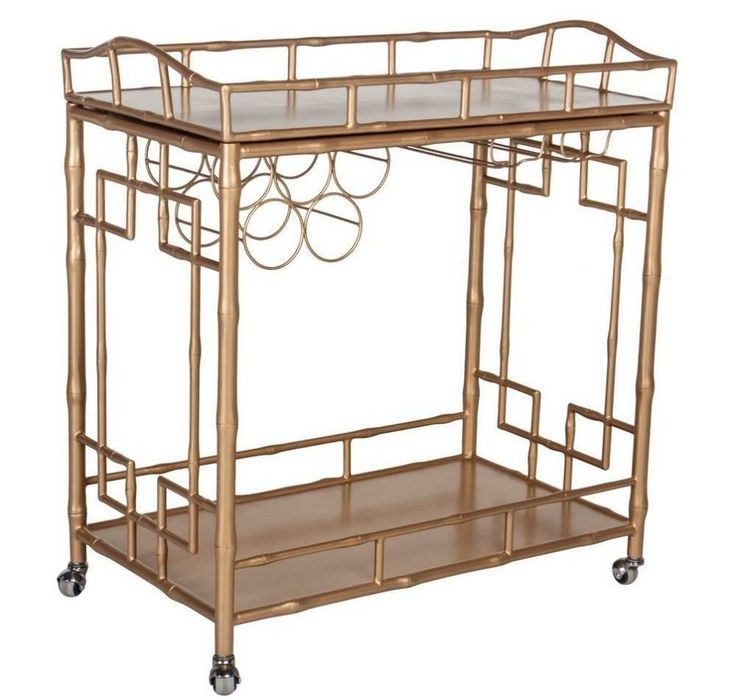 The Sedgewick faux bamboo bar cart is vintage inspired, yet modern and glam | domino.com